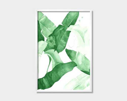 """Beverly II"" Tropical Banana Palm Leaves - 20"" x 30"" - Etsy"