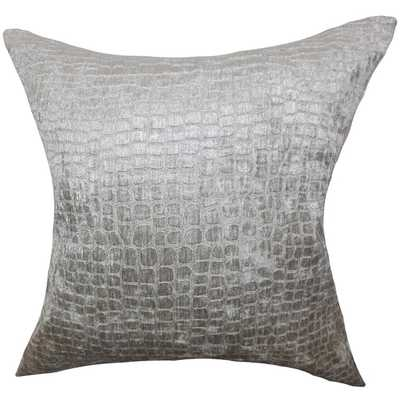 Jensine Solid Down Filled Throw Pillow - 18x18 - Overstock