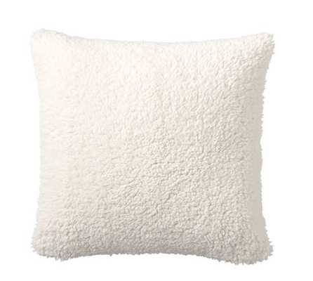 "FAUX SHEEPSKIN PILLOW COVERS - 18 x 18"" (No insert) - Pottery Barn"