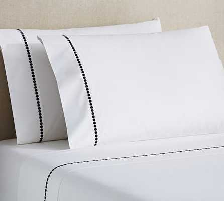 Pearl Embroidered 280-Thread-Count Sheet Set - Pottery Barn