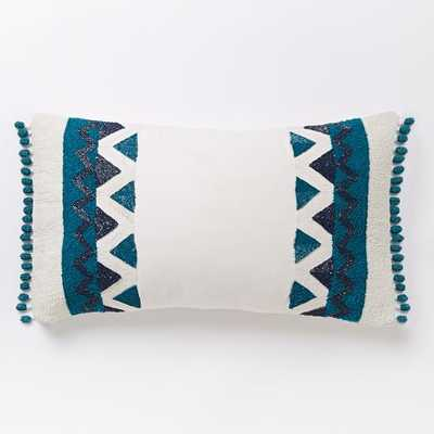 """Zigzag Border Lumbar Pillow Cover - 12""""x21"""" - Insert Sold Separately - West Elm"""