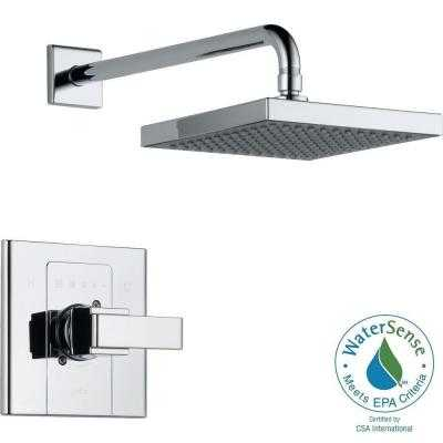 Arzo Single-Handle 1-Spray Shower Faucet Trim Kit in Chrome (Valve Not Included) - Home Depot