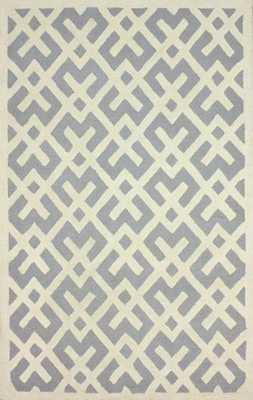 Hand Tufted Julien area rug,  7'6x9'6, Grey - Loom 23