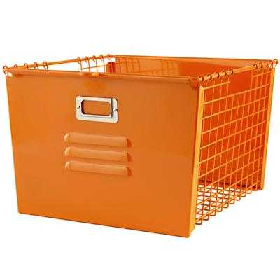 Saved by the Cube Bin Locker Basket (Orange) - Land of Nod