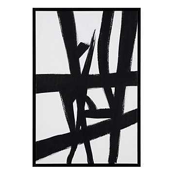 Smoldering Tracks 1 - 25.5''W x 37.5''H - Framed (Champagne) - Z Gallerie
