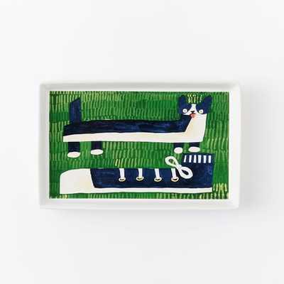 Collector's Editions Plates -  Navy Mizuki Dog - West Elm