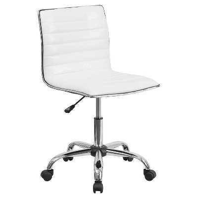 Low Back Armless Designer Swivel Task Chair White - Flash Furniture - Target