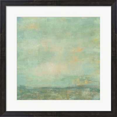 """Mint Sky I - 25"""" x 25"""" - Brown Frame - framedart.com"""