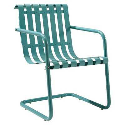 Gracie Metal Retro Patio Spring Chair-Blue - Target