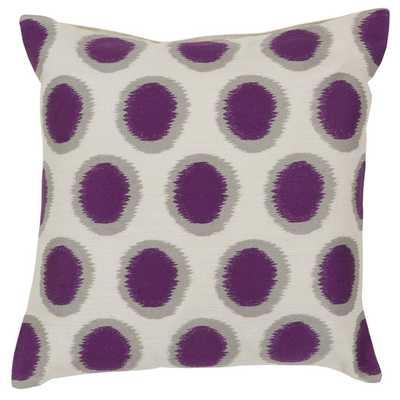 "Pretty Polka Dot Linen Throw Pillow - Papyrus / Navy - (18""SQ- Polyester fill insert - AllModern"