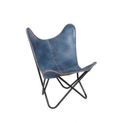 Leather Butterfly Side Chair - AllModern