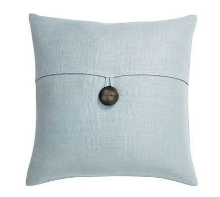 "TEXTURED LINEN PILLOW COVER - 18"" square - OASIS -  insert sold separately. - Pottery Barn"