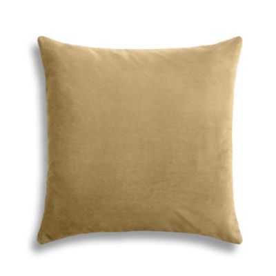 "SIMPLE THROW PILLOW | in classic velvet - camel - 20"" x 20"" - Down Insert - Loom Decor"