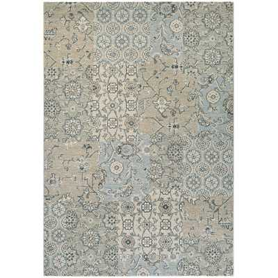 Traditions Bruges Light Gray/Ivory Area Rug - Wayfair