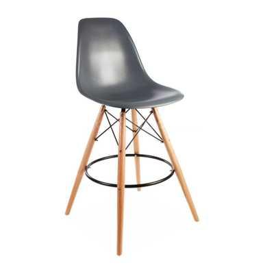 ModHaus Mid Century Modern Eames DSW Style Gray Counter Stool - Amazon
