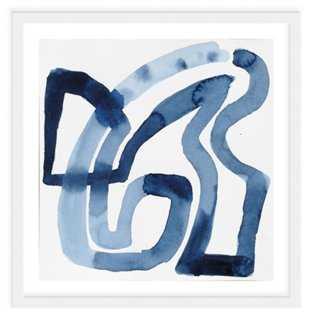 "Jen Garrido, Indigo Weave - 24"" x 24"" - Framed - One Kings Lane"