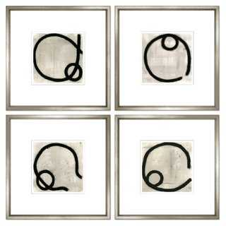 Felix Lucas, Charcoal Abstract - 24x24, Framed - One Kings Lane