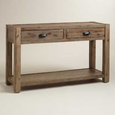 Wood Quade Console Table - World Market/Cost Plus