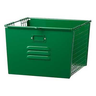 Dk.Green Metal Locker Basket - Land of Nod
