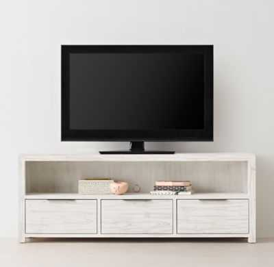 LAGUNA WIDE MEDIA CONSOLE - Whitewashed Natural - RH Teen