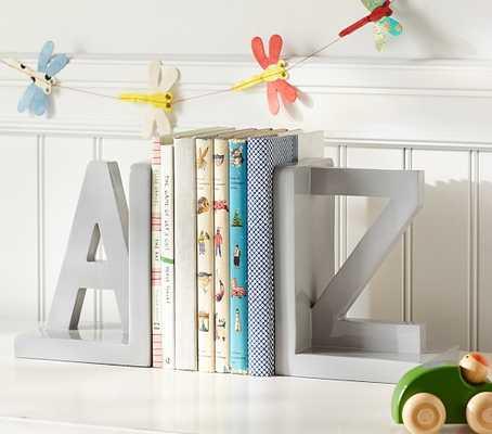 Gray A-Z Bookend - Pottery Barn Kids