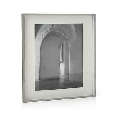 Brushed Silver 11x14 Picture Frame - Crate and Barrel