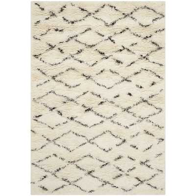 Safavieh Casablanca White / Brown Area Rug-8x10' - Wayfair