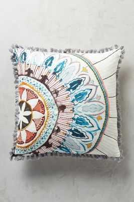 "Seraphita Pillow- 18""x18""-Multi- Polyfill insert - Anthropologie"