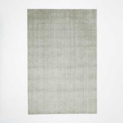 Hand-Loomed Shine Rug - Mountain Mist 5'x8' - West Elm