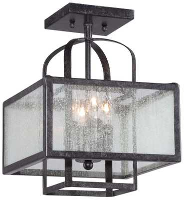 "Minka Camden Square 11"" Wide Charcoal Ceiling Light - Style # 5K237 - Lamps Plus"