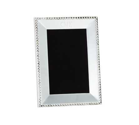 """Beaded Silver-Plated Frame - 4"""" x 6"""" - Pottery Barn"""