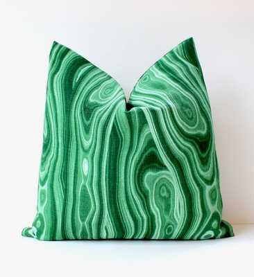 Malachite modern Designer Pillow Cover, Dark green - 19x19 - Insert Sold Separately - Etsy