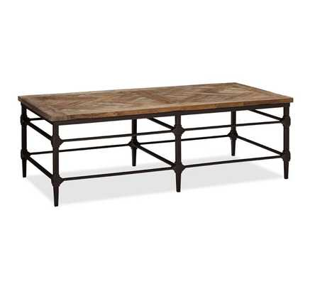 PARQUET RECLAIMED WOOD RECTANGULAR COFFEE TABLE - Pottery Barn