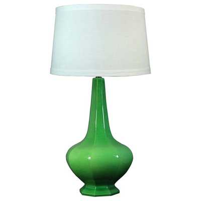 Jewel Green Crackle 30-inch Ceramic Table Lamp - Overstock