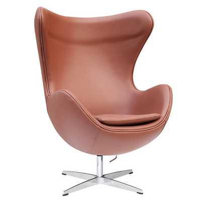 Inner Leather Arm Chair - Light Brown - AllModern
