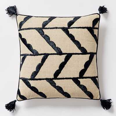 "Offset Scallop Pillow Cover -  18""sq - Insert Sold Separately - West Elm"