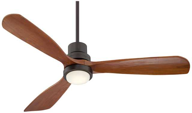 "52"" Casa Delta-Wingâ""¢ Bronze Outdoor LED Ceiling Fan - Lamps Plus"