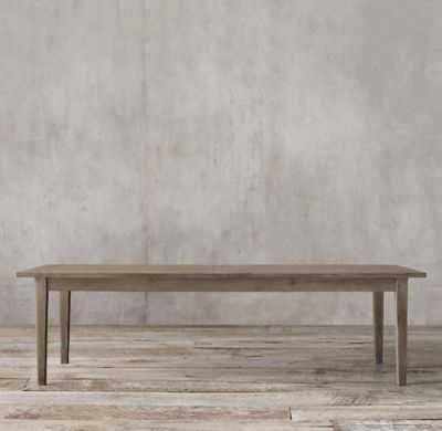 """1900s Boulangerie Extension Dining Table - 72"""" - Salvaged Grey - RH"""
