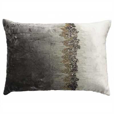 """Raina Stone Pillow, 14x20"""", Charcoal, Insert Sold Separately - High Fashion Home"""