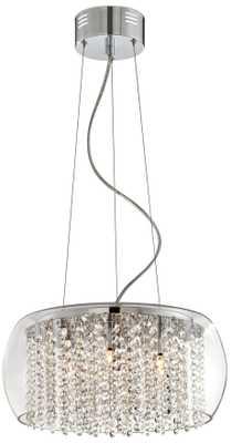 "Possini Euro Crystal Rainfall Glass Drum 17"" Wide Chandelier - Lamps Plus"