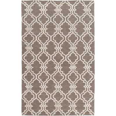 Micro-Looped Barking Moroccan Trellis Cotton Rug (12' x 15') - Overstock