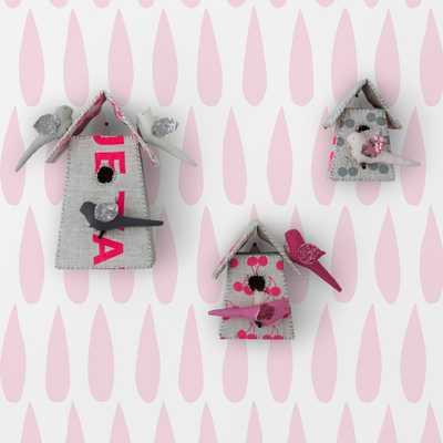 SISSY & MARLEY DROPS - PINK - Walnut Wallpaper