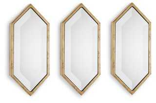 S/3 Diamond Shape Accent Mirrors - One Kings Lane