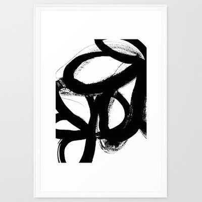 """Wild tulips - FRAMED ART PRINT/ SCOOP WHITE(26"""" X 38"""") - Society6"""