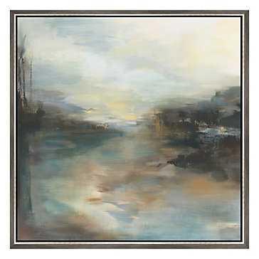 """7:00 A.M. - Original Art 36"""" x 36"""" framed - Z Gallerie"""