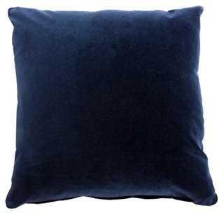 Pompeii 20x20 Cotton Pillow, Navy - Feather/down insert - One Kings Lane