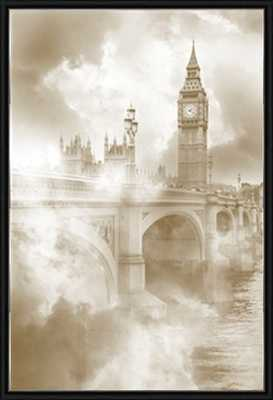 """Foggy London-14""""x20""""-Framed - Photos.com by Getty Images"""