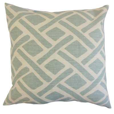 """Moton Geometric Linen Throw Pillow- 18"""" H x 18"""" W-down insert - Wayfair"""