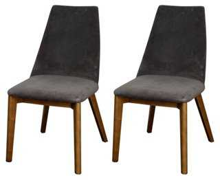 Slate Arlene Side Chairs, Pair - One Kings Lane