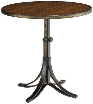 Hammary Mercantile Adjustable Height Round Whiskey End Table - Lamps Plus